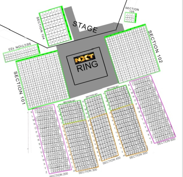 NXT SEATING CHART (The Portage Theater)