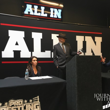 Billy Corgan at ALL IN Press Conference