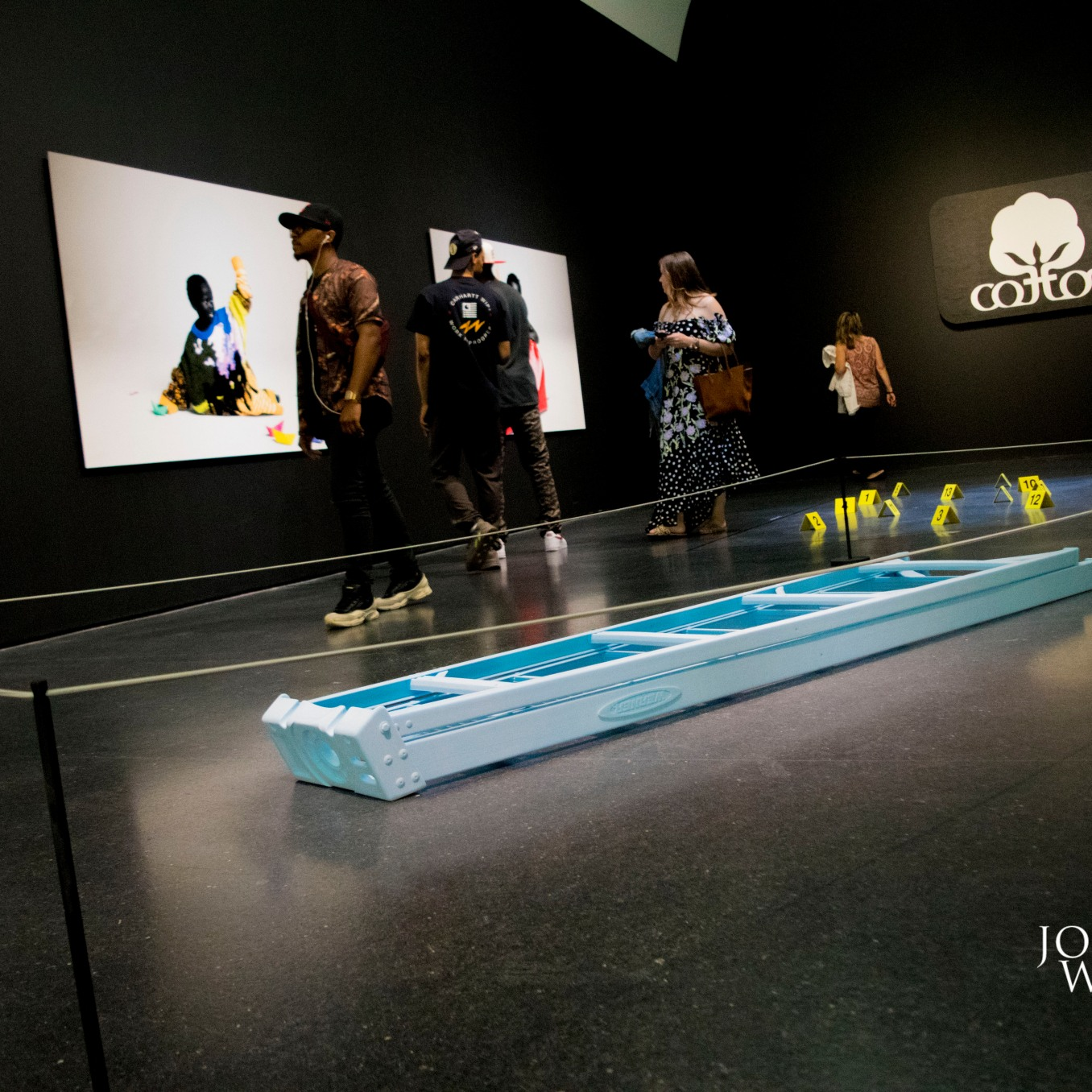 """Virgil Abloh's """"FIGURES OF SPEECH EXHIBIT (Photo by Tre G - Journalist Without A Beat)"""